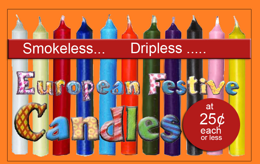 European festive candlelight