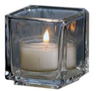 Holds 10 Hr. Votives or Tealights