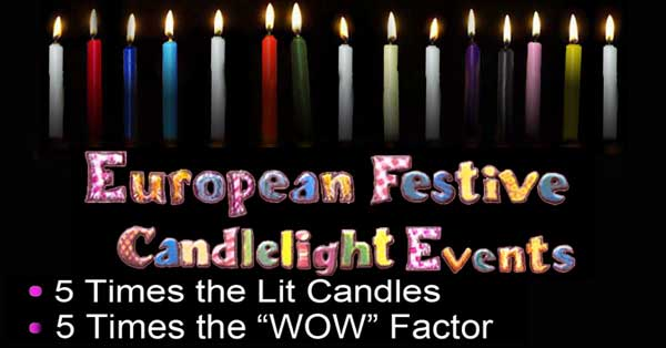 European festive candlelight parties