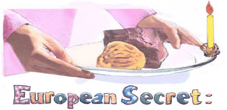 Europen secret, plate candle clips