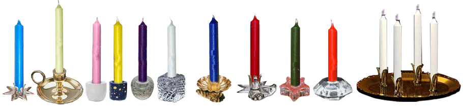half inch candle holders and clips